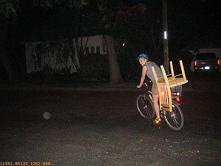 Suspicious scene, a person spotted chair-nabbing